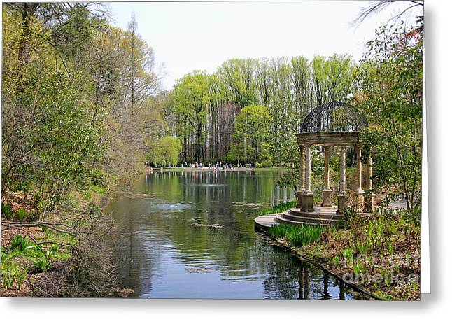 Saturday Afternoon at Longwood Gardens Greeting Card by Trina  Ansel