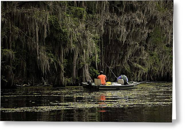 Caddo Lake Greeting Cards - Saturday at Caddo Greeting Card by John Hesley