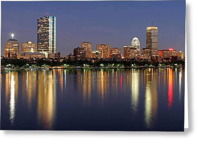 Live Art Photographs Greeting Cards - Saturday Night Live in Beantown Greeting Card by Juergen Roth