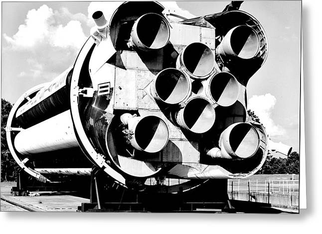 Rocket Greeting Cards - Saturn I Greeting Card by Benjamin Yeager