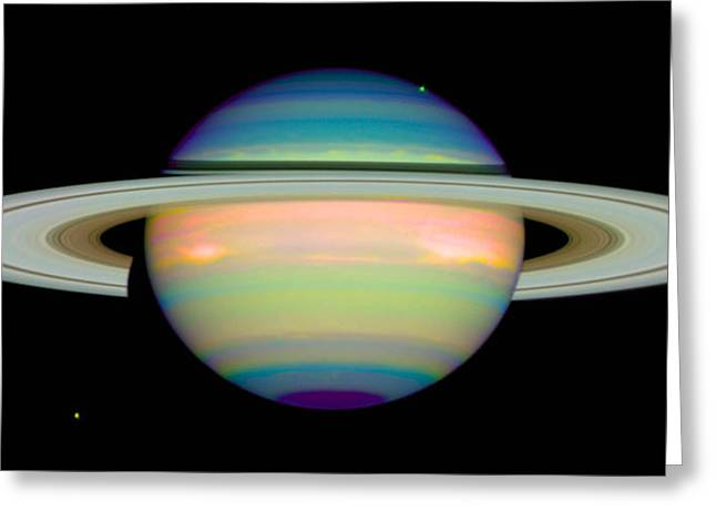 Saturn Greeting Cards - Saturn Greeting Card by Nasa