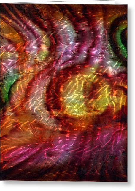 Saturn's Winds 2 Of 3 Greeting Card by Luis  Navarro