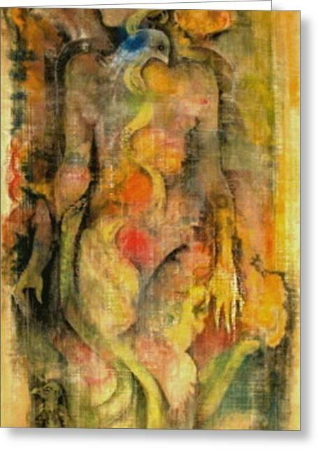 Spirituality Pastels Greeting Cards - Satya Yuga Greeting Card by Josie Taglienti