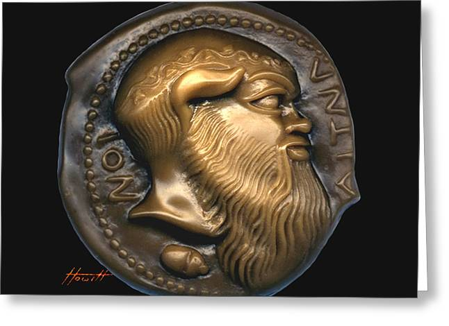 Engraving Sculptures Greeting Cards - Satyr or Silenos Greeting Card by Patricia Howitt
