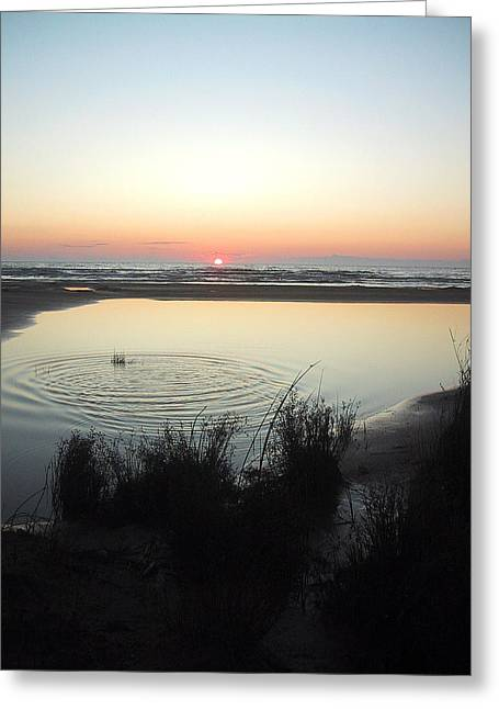 Ontario Greeting Cards - Sauble Reflections at Sunset Greeting Card by Merv Scoble