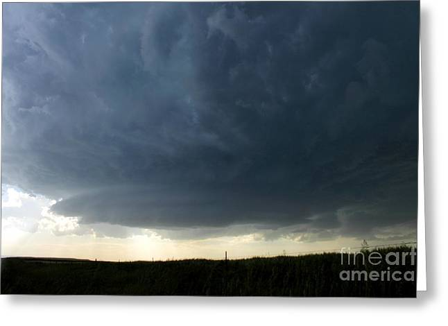 Storm Chasing Greeting Cards - Saucer Greeting Card by Josh Alecci