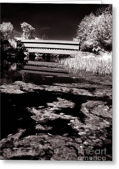 Ir Greeting Cards - Saucks Bridge down stream Greeting Card by Paul W Faust -  Impressions of Light
