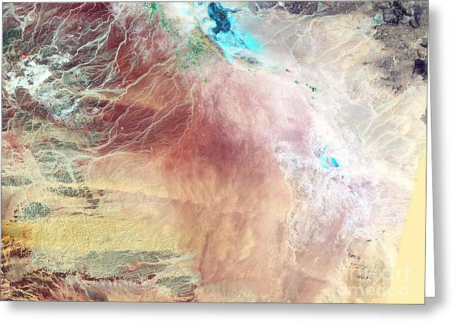 1987 Photographs Greeting Cards - Saudi Arabia Agriculture, 1987 Greeting Card by Nasa