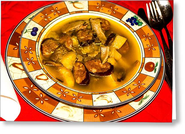 Polish Culture Greeting Cards - Sauerkraut Stew Soup  Greeting Card by Tibor Co