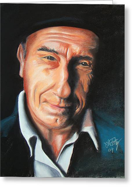 Talking Pastels Greeting Cards - Saul Greeting Card by Michael Foltz