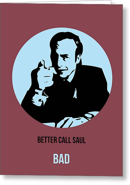 Breaking Greeting Cards - Saul Poster 1 Greeting Card by Naxart Studio
