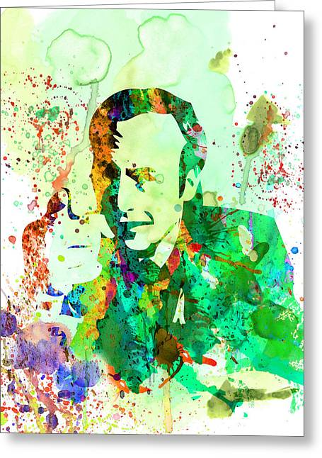 Breaking Bad Greeting Cards - Saul Watercolor Greeting Card by Naxart Studio