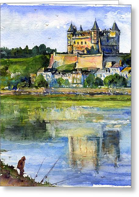 Recently Sold -  - Chateau Greeting Cards - Saumur Chateau France Greeting Card by John D Benson