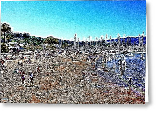 Sausalito Beach Sausalito California 5d22696 Artwork Greeting Card by Wingsdomain Art and Photography