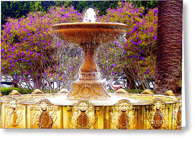 Sausalito Greeting Cards - Sausalito California Fountain Greeting Card by Jerome Stumphauzer