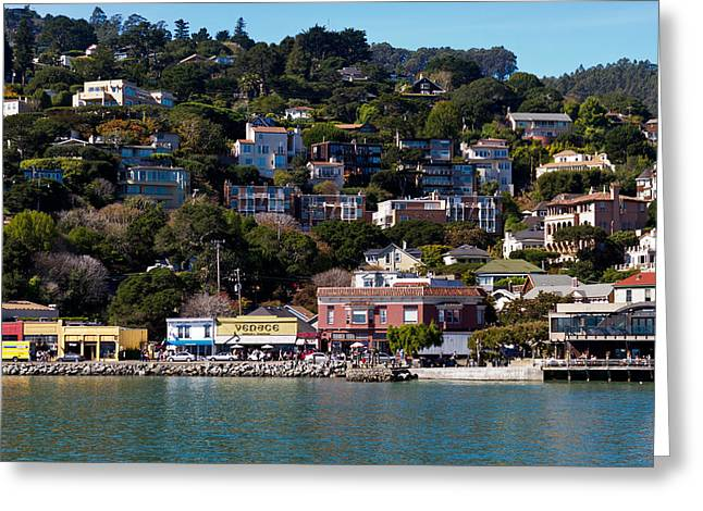Sausalito Greeting Cards - Sausalito Hillside Greeting Card by Bernard  Barcos