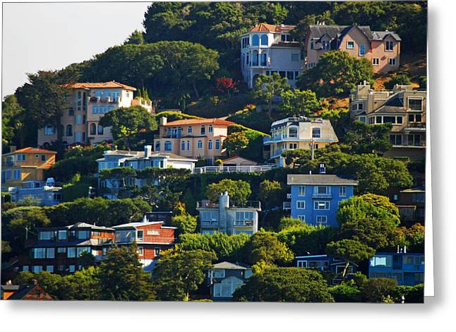 Sausalito Greeting Cards - Sausalito Ocean View Greeting Card by DeAnna Denise Adams