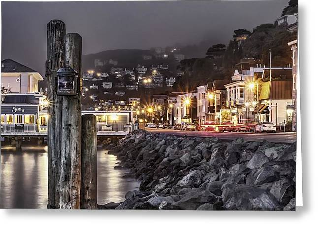 Phil Clark Greeting Cards - Sausalito Waterfront 2 Greeting Card by Phil Clark