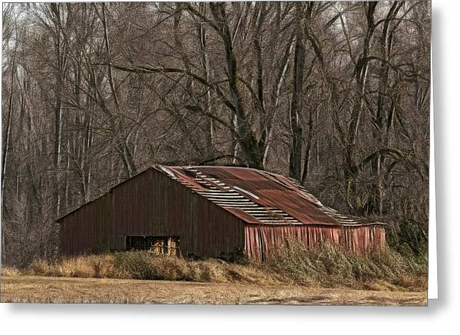 Sauvie Island Greeting Cards - Sauvie Island Barn W9977 Greeting Card by Wes and Dotty Weber