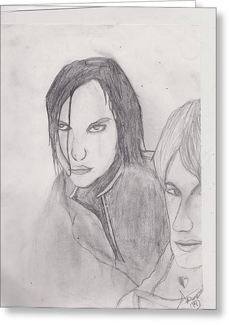 Darren Drawings Greeting Cards - Savage Garden Greeting Card by Aspen  Fass