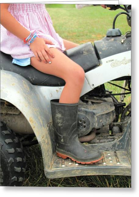 Tom Boy Greeting Cards - Savannah A Real Girly Girl Greeting Card by Jeanne Porter