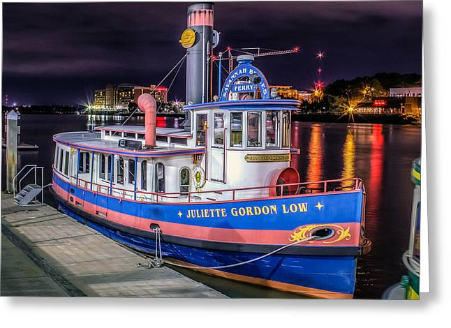 Juliette Low Greeting Cards - Savannah Belle DOT Ferry Greeting Card by Rob Sellers