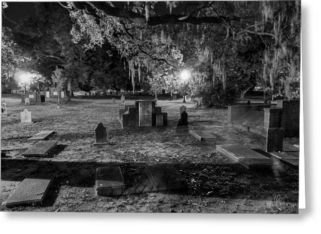Night Lamp Photographs Greeting Cards - Savannah - Bonaventure Cemetery 001 Greeting Card by Lance Vaughn