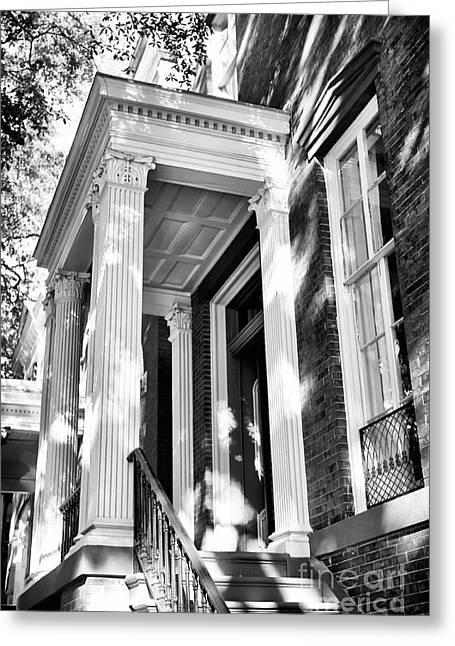 Savannah Artist Greeting Cards - Savannah Columns Greeting Card by John Rizzuto