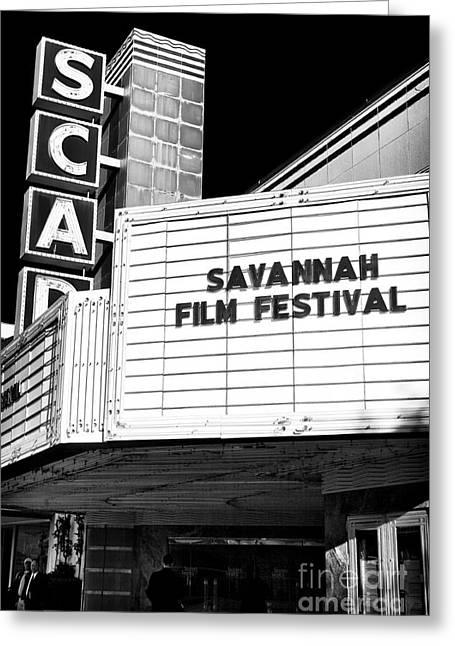 Savannah Artist Greeting Cards - Savannah Film Festival Greeting Card by John Rizzuto