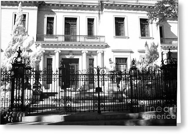 Old South Greeting Cards - Savannah Georgia Historical District Homes - Southern Mansions Architecture Greeting Card by Kathy Fornal