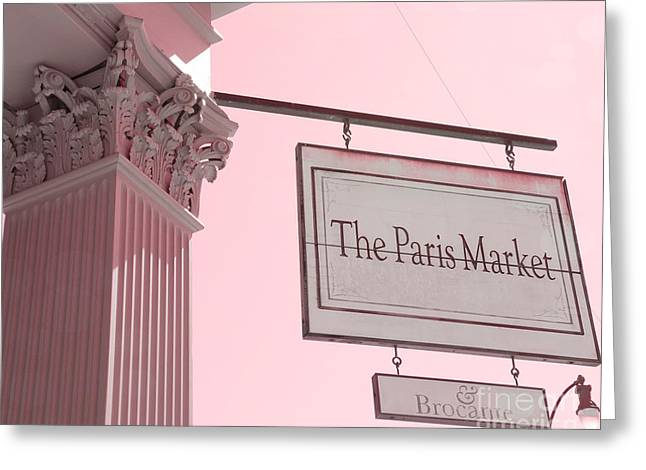Savannah Georgia French Market - The Paris Market And Brocante - Parisian Flea Market Brocante Shop  Greeting Card by Kathy Fornal