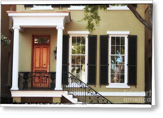 Savannah House Greeting Card by John Rizzuto