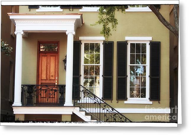 Chatham Greeting Cards - Savannah House Greeting Card by John Rizzuto