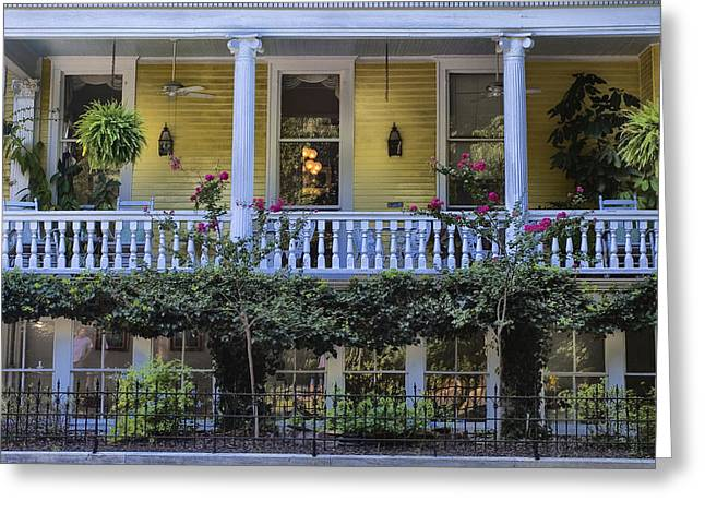 Deep River County Park Greeting Cards - Savannah Porch Greeting Card by Diana Powell