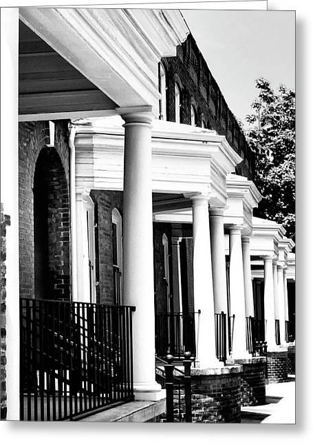 Historic Home Greeting Cards - SAVANNAH ROWHOUSES Savannah GA Greeting Card by William Dey