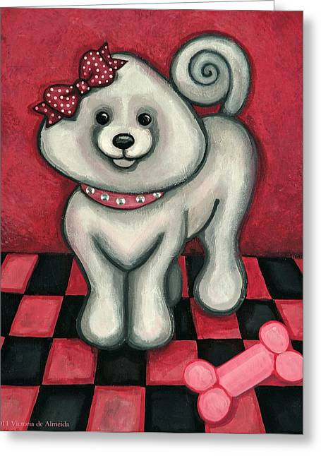 Toy Dog Greeting Cards - Savannah Smiles Greeting Card by Victoria De Almeida