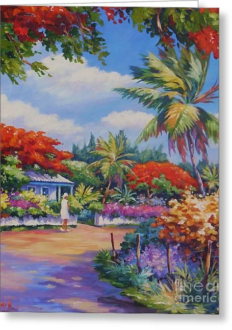 Tropical Island Greeting Cards - Savannah Walk      20x24 Greeting Card by John Clark