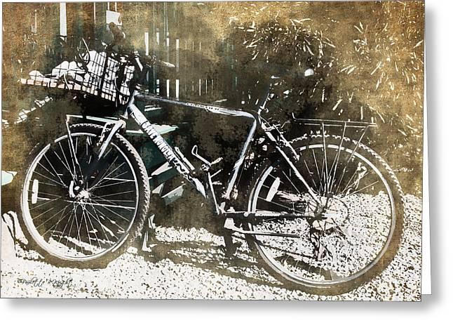 Lahaina Digital Greeting Cards - Save Honolua - Lahaina Bicycle Greeting Card by Paulette B Wright