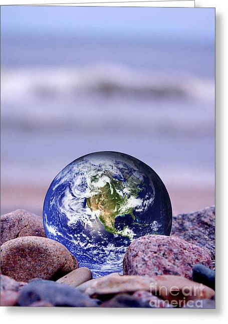 Save The Earth Greeting Card by Michal Bednarek