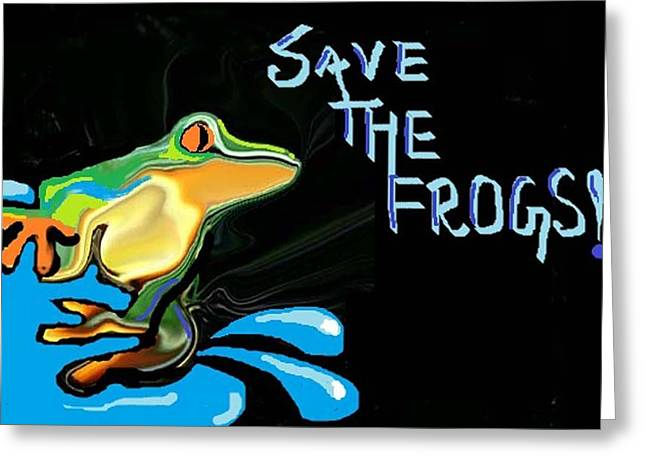 Poornima M Greeting Cards - Save The Frogs Greeting Card by Poornima M