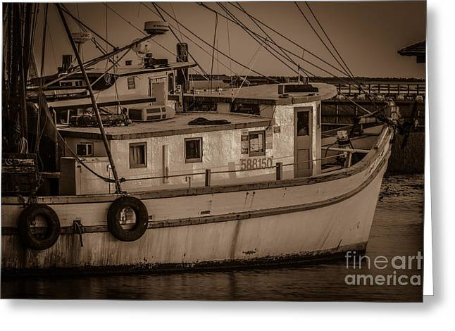 Mt. Pleasant Sc Greeting Cards - Save the Shrimpers Greeting Card by Dale Powell