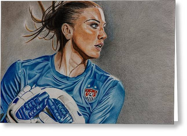 Usa National Team Greeting Cards - Saved By Hope Greeting Card by Brian Broadway