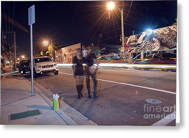 Miami Pyrography Greeting Cards - Saving A Spot In Wynwood Greeting Card by Joshua Anderson