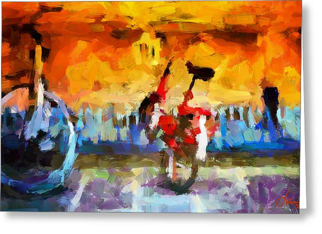 Saving The Bikes For The Summer Tnm Greeting Card by Vincent DiNovici