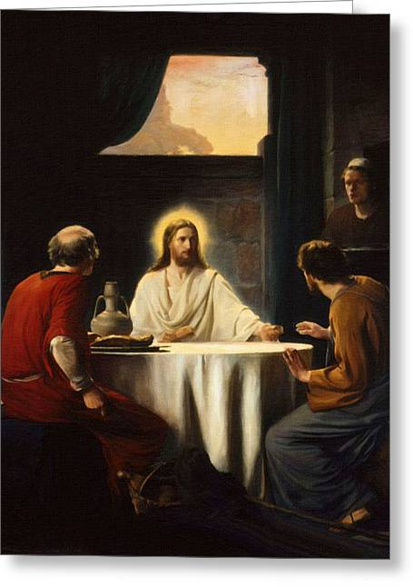 Catholic Art Greeting Cards - Savior Greeting Card by Victor Gladkiy