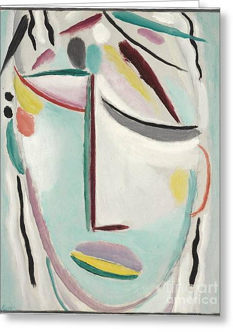 Strength Paintings Greeting Cards - Saviors Face - Martyr Greeting Card by Celestial Images