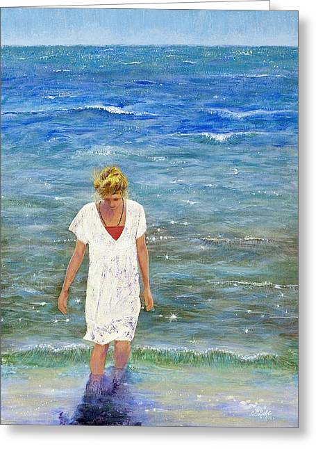 Anyday Greeting Cards - Savoring the Sea Greeting Card by Margaret Bobb