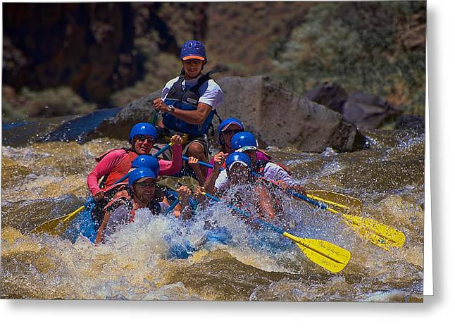White Water Rafting Print Greeting Cards - Savory Second Greeting Card by Britt Runyon