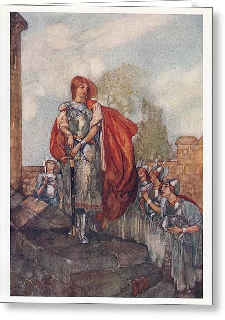 Ida Greeting Cards - Savoy Opera - Princess Ida Greeting Card by William Russell Flint