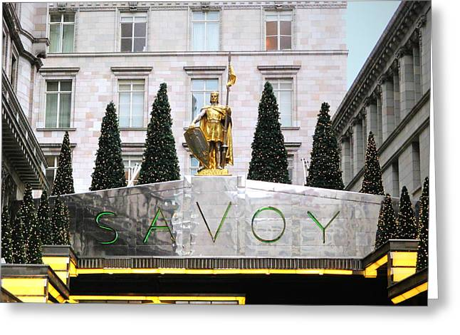 Famous Hotel Greeting Cards - Savoy Greeting Card by Sharon Lisa Clarke
